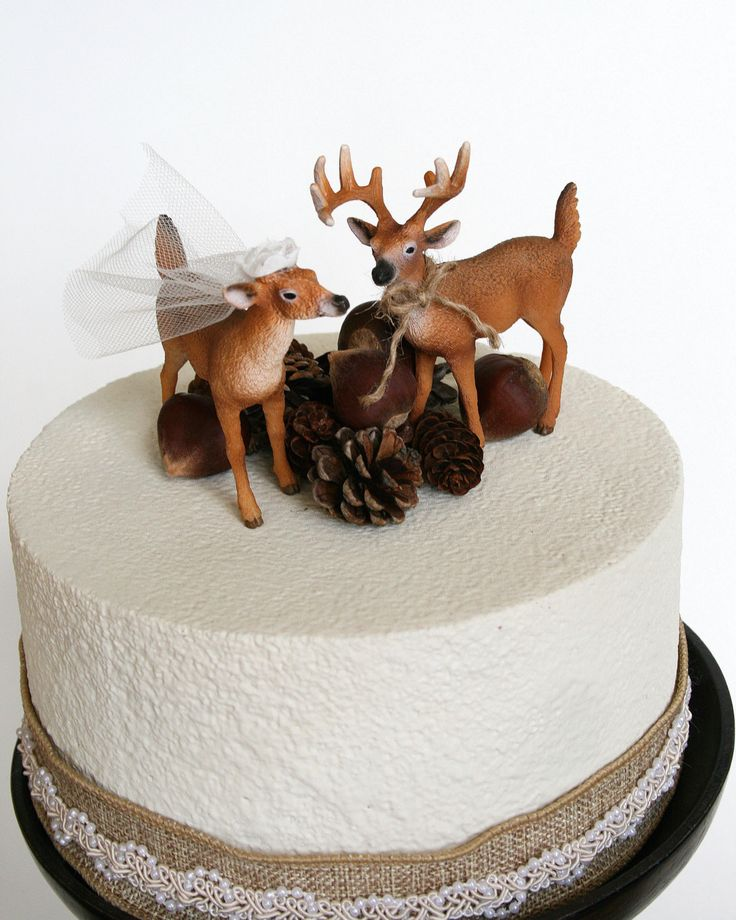 Redneck Cake Topper / Deer Cake Topper / Wedding by hawthornehill, $22.00