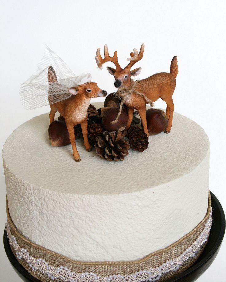 Redneck Cake Topper / Deer Cake Topper / Wedding by hawthornehill, $22.00