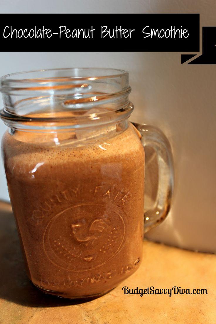 Chocolate-Peanut Butter Smoothie- YUS!