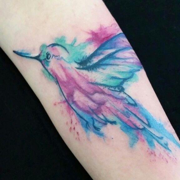 #beijaflor #colorful #tattooed #watercolor #aquarelatattoo #colors