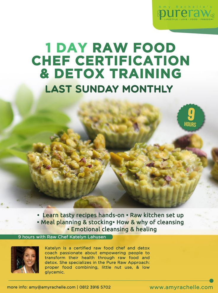 Next 1 day intensive raw food & detox course, Aug. 31st in Ubud Bali!