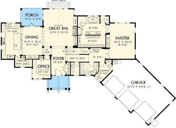 Plan W69002AM: Charming and Luxurious Craftsman Home Plan