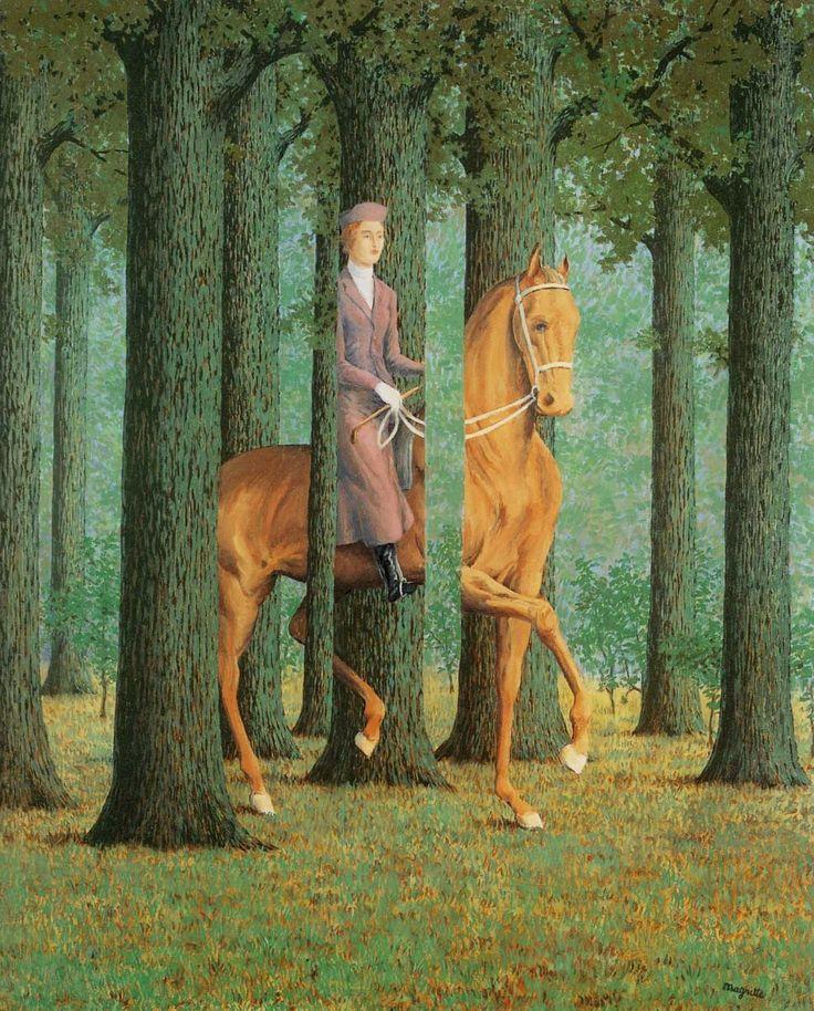 René Magritte: Le Blanc-seing (1965)