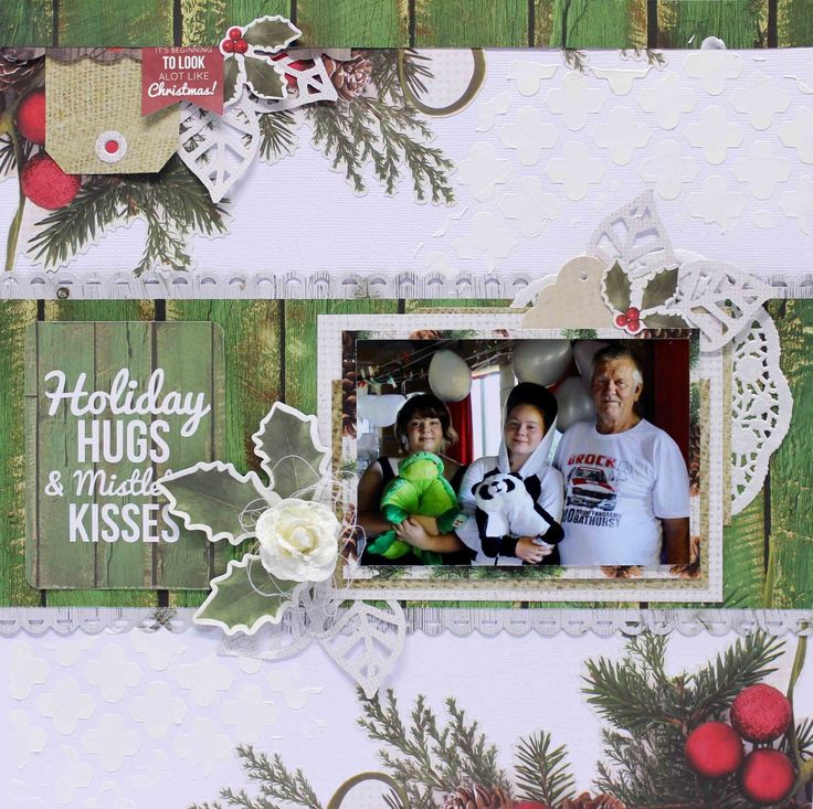 holiday hugs and mistletoe kisses Layout  - Anita Bownds (1)