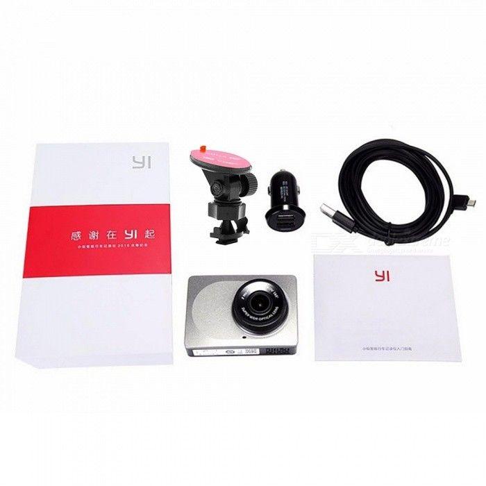 """Xiaomi Yi 2.7"""" 1080P ADAS Wi-Fi Car DVR Camcorder - Grey"""