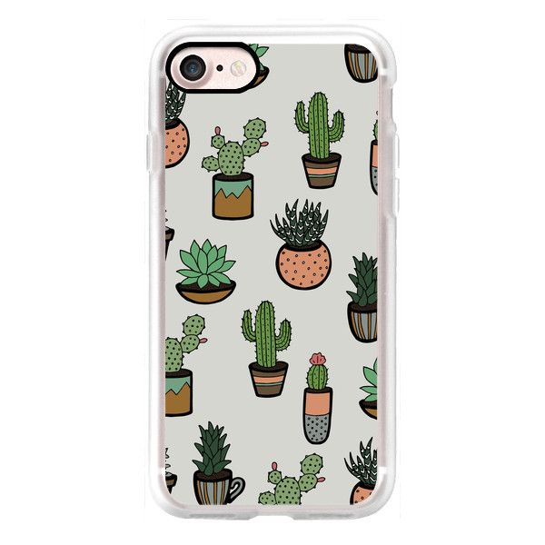Cacti - Succulents - iPhone 7 Case, iPhone 7 Plus Case, iPhone 7... (£33) ❤ liked on Polyvore featuring accessories, tech accessories, phone cases, phone, cases, iphone case, apple iphone cases, iphone cases and iphone cover case