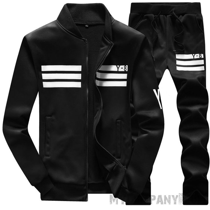 Men's Casual / Sports Tracksuit #mens #running #jogger #tights #pants #sexy #5percentoff #white #black #sport
