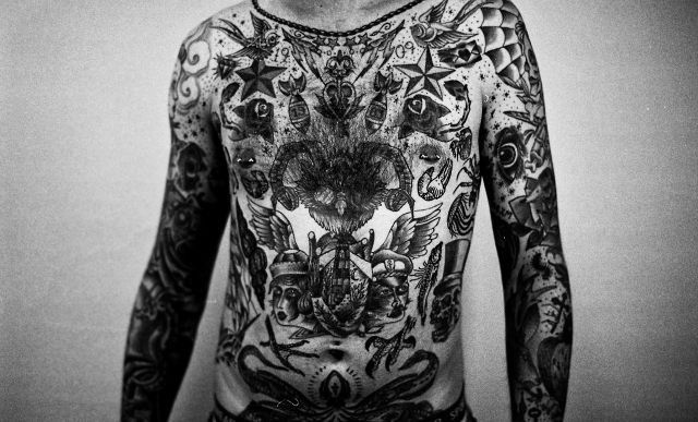 Body suit tattoos traditional