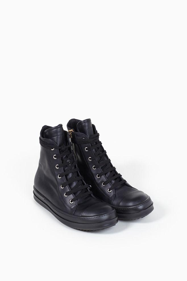 Rick Owens - Ramones Sneakers (Black/ Black)
