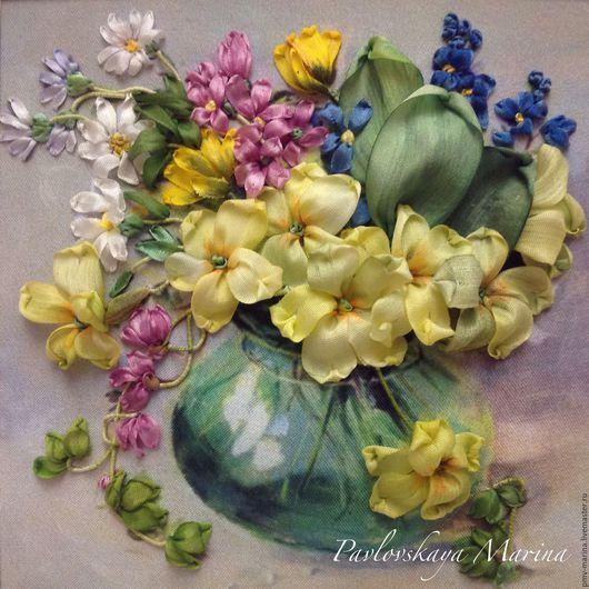 Картины цветов ручной работы. Ярмарка Мастеров - ручная работа. Купить Букетик. Handmade. Миниатюрная живопись, первоцветы, нежные цветы