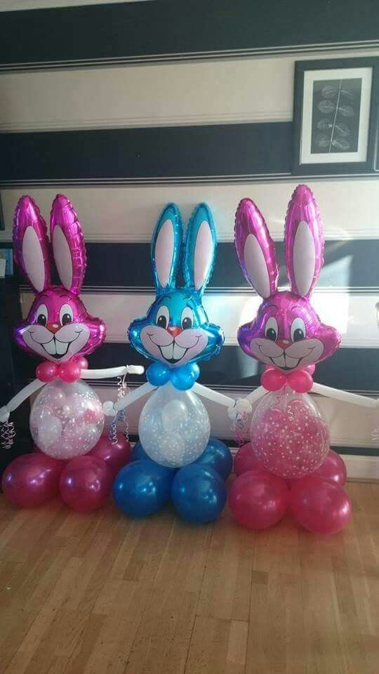 easter balloon bunny #www.bellissimoballoons.co.uk #stuffedballoon #easteregg