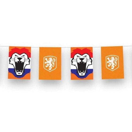 Vlaggenlijn Rechthoekig Oranje Leeuw