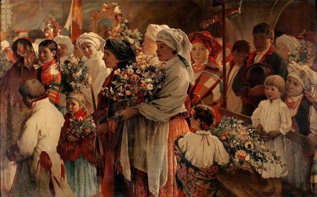 Witold Pruszkowski (1846-1896)     Święto Matki Boskiej Zielnej  Święto Wniebowzięcia Najświętszej Marii Panny
