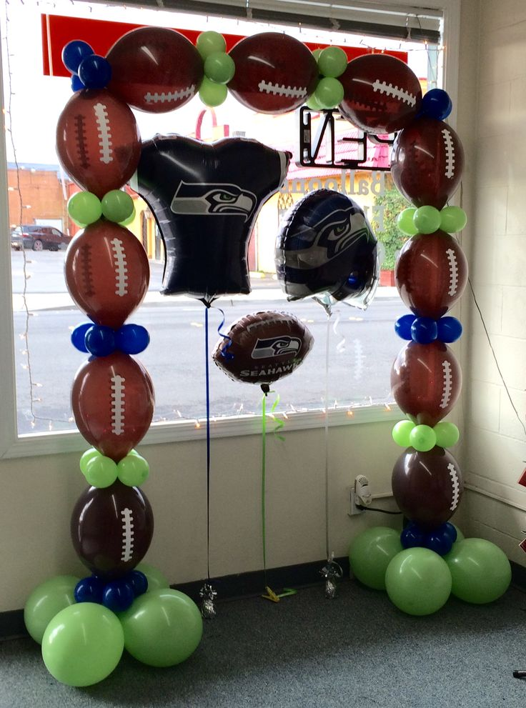 Pin by celebrations balloon company on sports themed for Balloon decoration companies