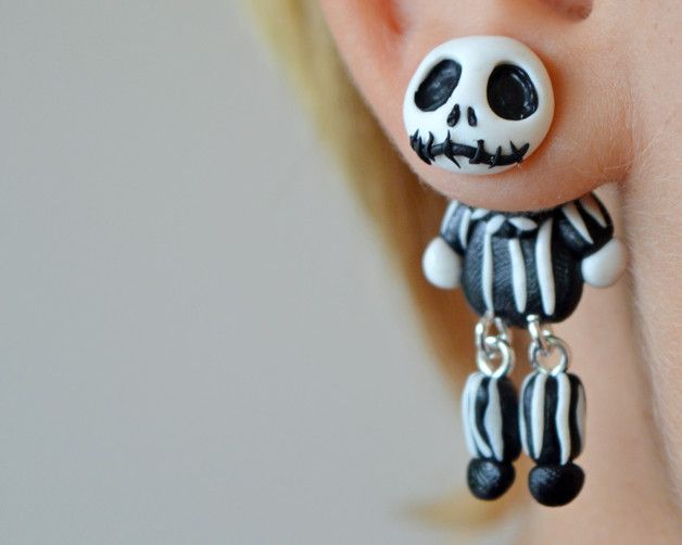 Dangle Earrings – Halloween Earrings,Skellington Jack post – a unique product by JewelryandPleasure on DaWanda