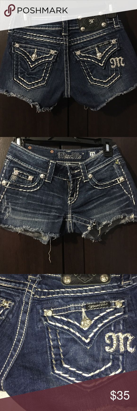 Miss Me denim shorts Good condition. Only worn a few times. Open to reasonable offers and trades. Miss Me Shorts Jean Shorts