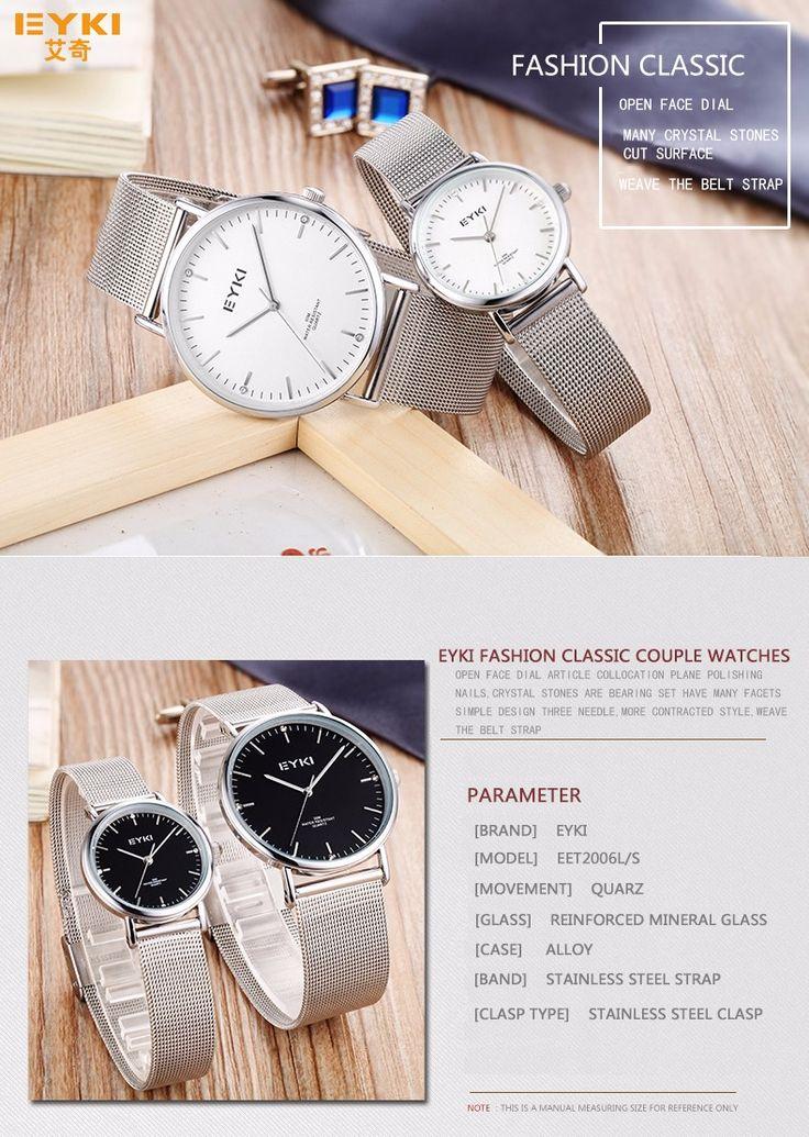 Women's Thin WristWatch eyki Luxury Men's Watch gold steel Band Fashion Simple Quartz Bracelet clock Lover's Girl Birthday Gift