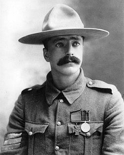 Boer War Picture, Sergeant Arthur H.L. Richardson, Strathcona's Horse, winner of the Victoria Cross for bravery at Wolve Spruit, 5 July 1900...