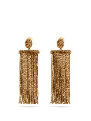 Waterfall tassel-drop clip-on earrings | Oscar De La Renta | MATCHESFASHION.COM