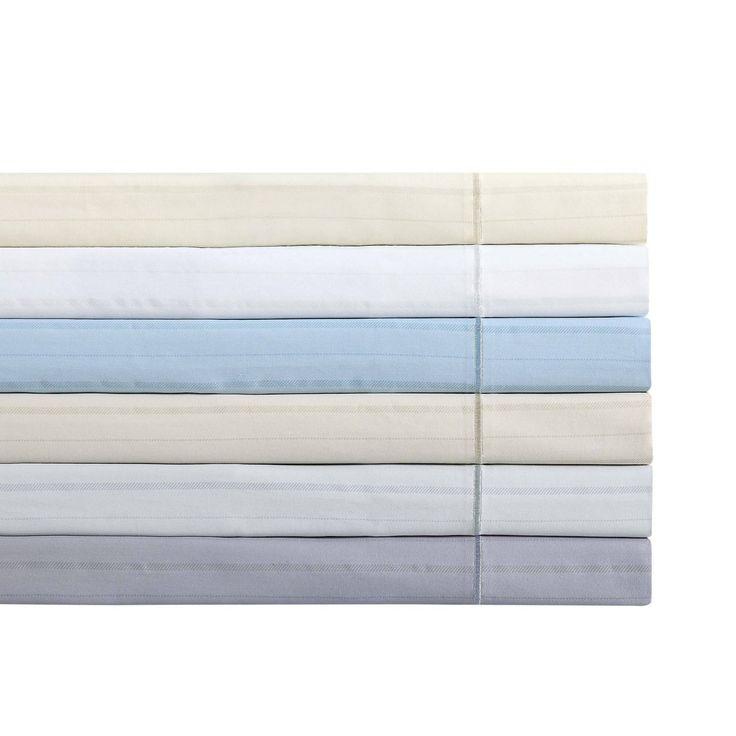 Charisma 310 Thread Count Classic Stripe Printed Sateen Sheet Sets