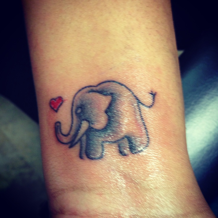 My baby elephant tattoo! <3 so in love with it!