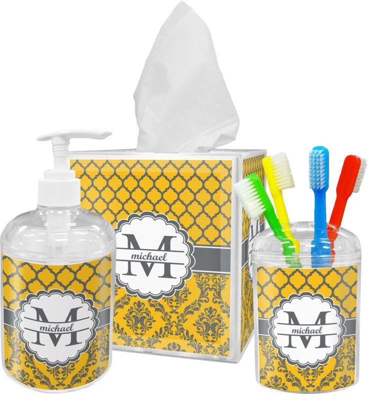Yellow Bathroom Accessories Sets