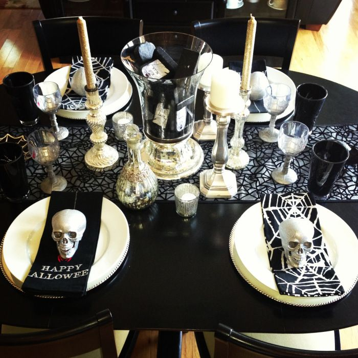 halloween decorations inspired by pottery barn - Halloween Place Settings