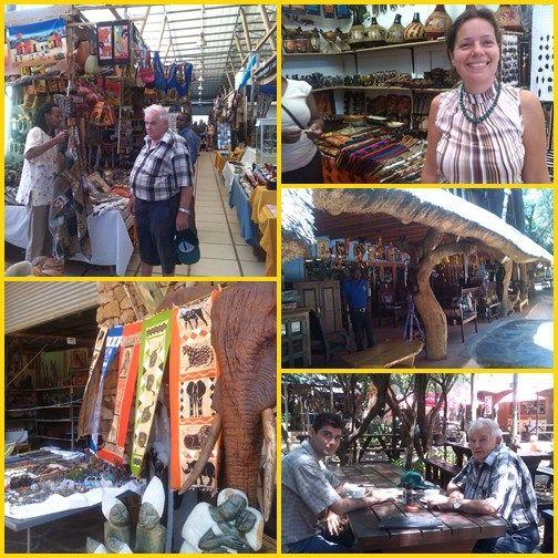Élet Dél-Afrikában - flea market, bolhapiac, Chameleon village