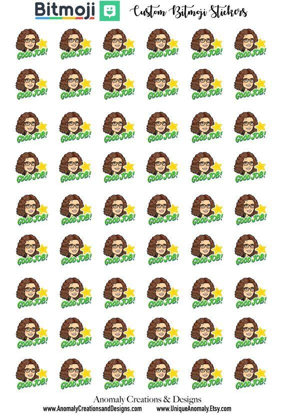 Teacher Stickers, Custom Bitmoji, Bitmoji, Personalized