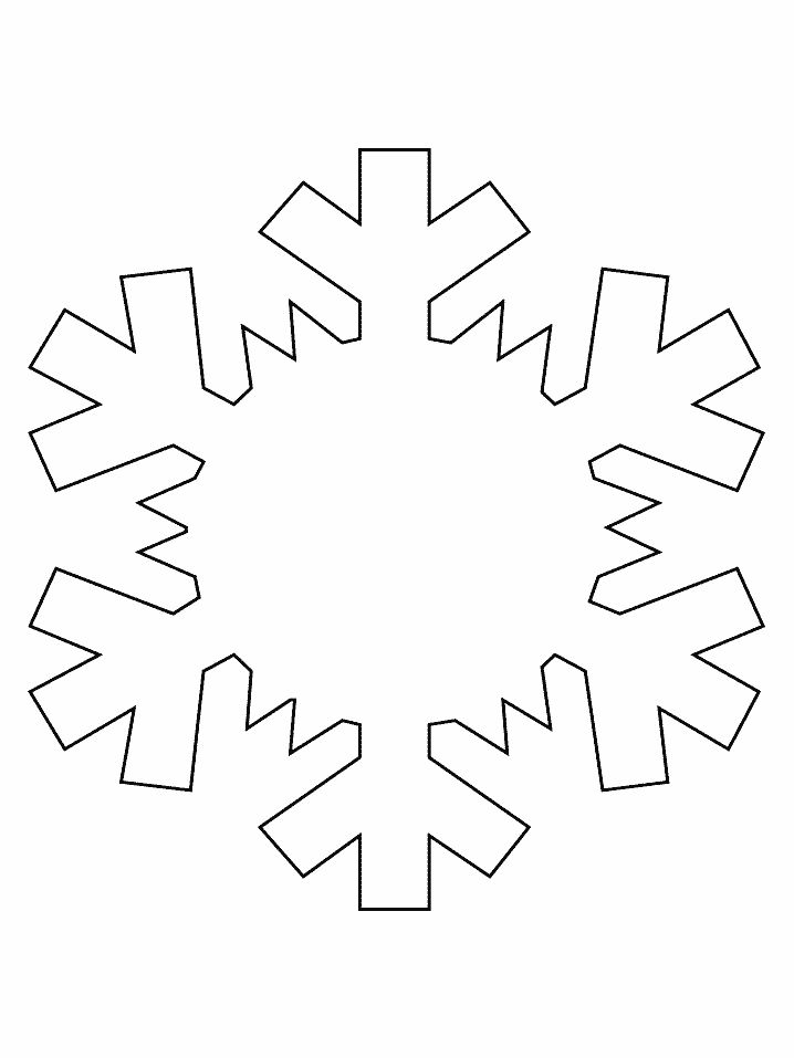 Snowflake Simple Shapes Coloring Pages Book
