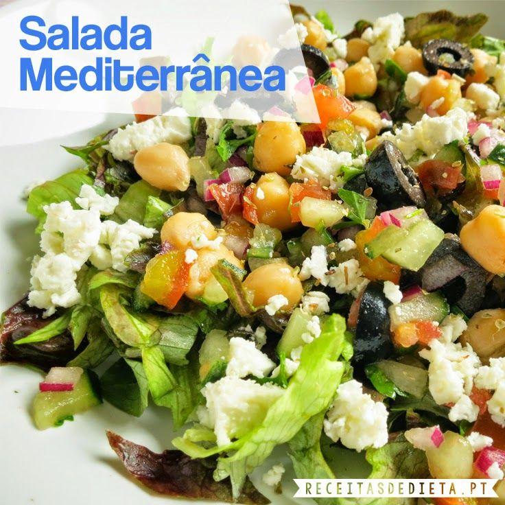 Receitas de Dieta: Salada Mediterrânea