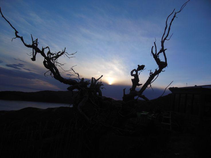 Noir.. tout ralentit sur la Isla del Sol, Bolivie
