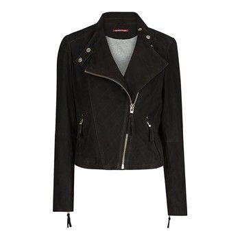 Tapalga Blouson en cuir noir Comptoir des Cotonniers prix Blouson femme Brandalley 395.00 €