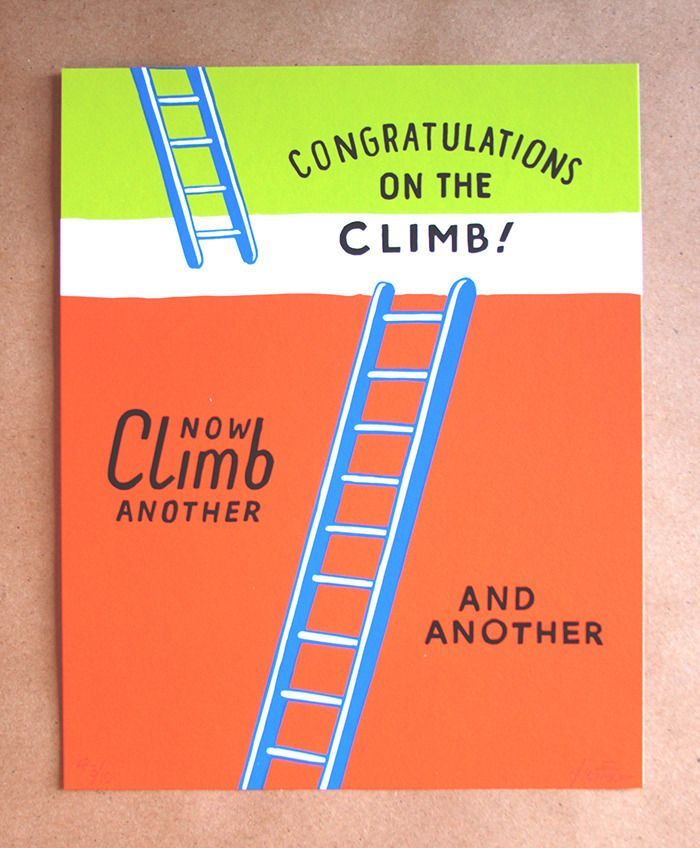 Image of Congratulations Climb Metaltation Print