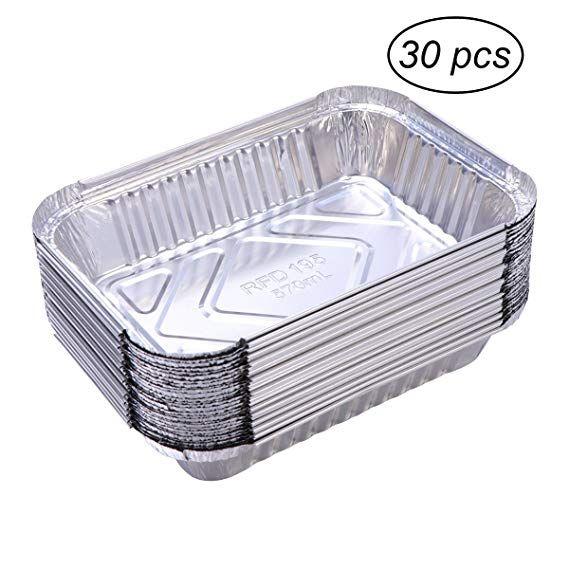 Kochen oder als Tropfschale 30 Einweg-Grillschalen aus Aluminium zum Grillen