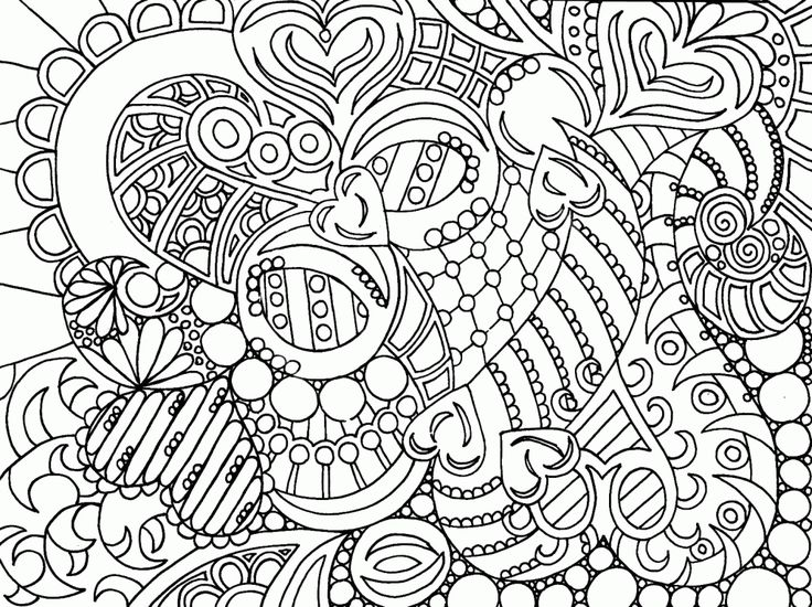Abstract Coloring Pages To Print Printable Mandala For Adults Free Easy On The Eye