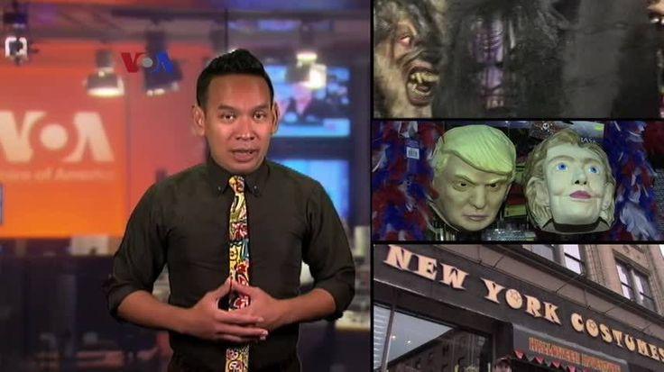 Perayaan Halloween pada 31 Oktober menjadi kesempatan sebagian warga AS 'all out' berdandan unik atau mendekorasi rumah. Ditambah lagi Halloween kali ini bertepatan dengan kampanye pilpres, sehingga kostum dan dekorasi capres juga ikut diborong. Versi awal dipublikasikan pada - http://www.voaindonesia.com/a/halloween-di-tengah-kampanye-pilpres/3569568.html