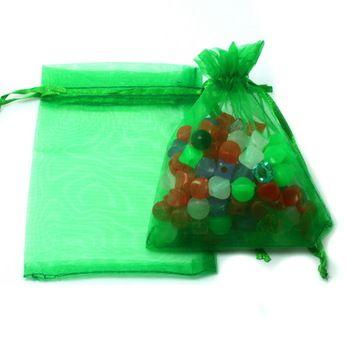 Modieuze groene sieraden organza zakje, bruiloft sieraden verpakkingen zakken, leuke gift bags 9x12cm pdb01-02gn 10pcs/lot