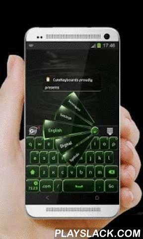 """Black And Green GO Keyboard  Android App - playslack.com ,  Dit is de GO Keyboard """"Zwarte en groene"""" thema door CuteKeyboards.Zwart en groen.Het nemen van zijn inspiratie uit de geweldige dingen zoals futuristische lichten, neon en technologie, deze donkere thema maakt het scherm van elke telefoon gloeien met goede looks.Heeft vragen uit het publiek niet onderschatten, heeft de technologie mensen beter geïnformeerd dan ooit gemaakt.Het leveren van een effectieve golf van emoties, is deze GO…"""