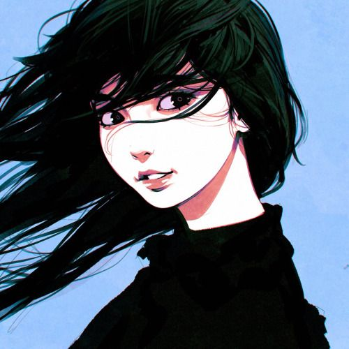 Art cool and black hair