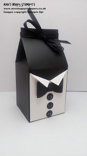 Ann's Happy Stampers: Fathers Day Tuxedo Style Gift Box