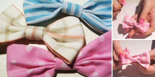 Vemale.com - Ingin memakai jepit rambut pita dengan kain bekas buatan sendiri? Anda bisa mengikuti langkah-langkah ini!