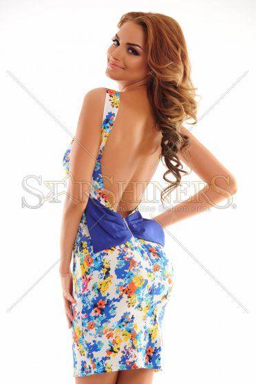 Radiant Contrast Blue Dress