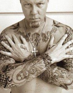 Tatouages de James Hetfield de Metallica