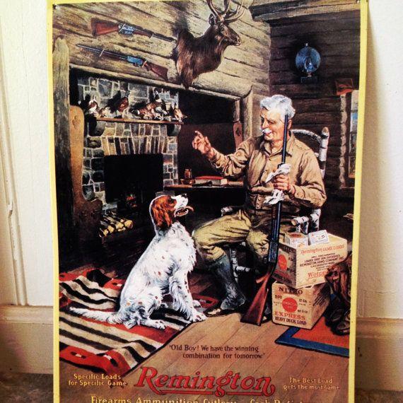 Remington Tin Wall Sign By Polishedpeccadillo On Etsy 16