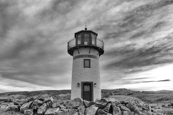 Lighthouse  Lighthouse Photo  Stormy Sky  Nautical  Black