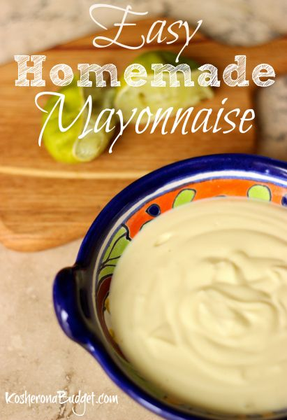How to Make Kosher for #Passover Homemade Mayonnaise with a Stick Blender. This mayo is so easy and SO tasty. It's perfect for Passover, #Paleo or #Whole30 - ers.