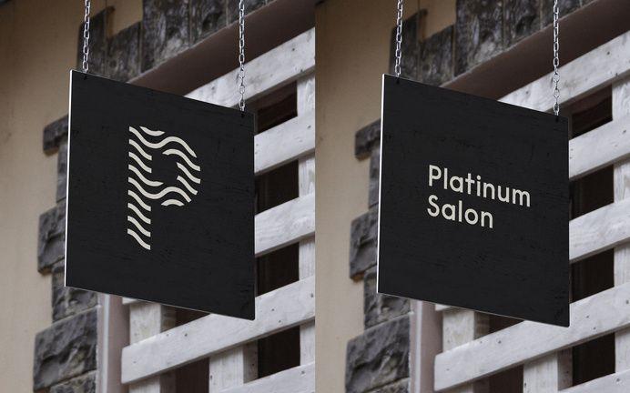 Platinum Salon – Identity Signage in Branding
