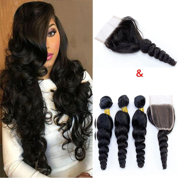 Malaysian Loose Wave Virgin Hair With Lace Closure Cheap Human Hair Wefts Weave Bundles With Closure 1B Body Wave Human Hair Vendors