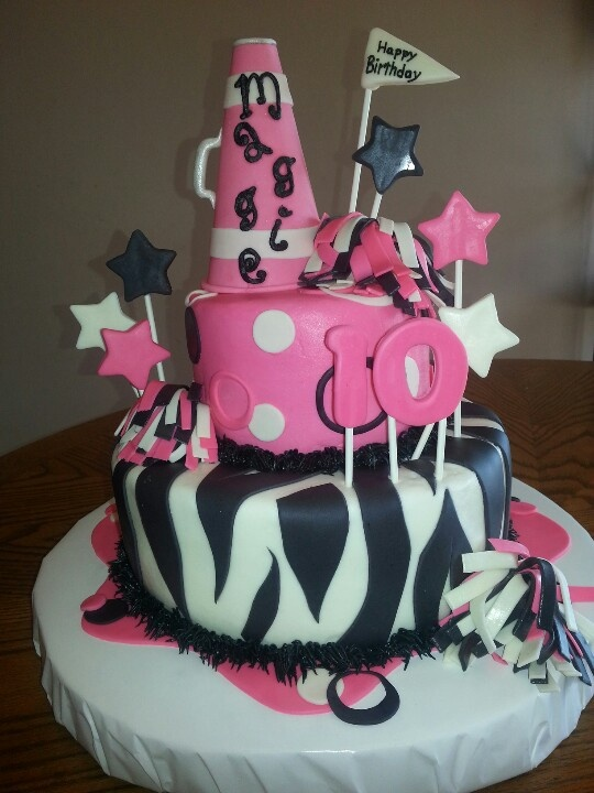 Cheerleading birthday cake